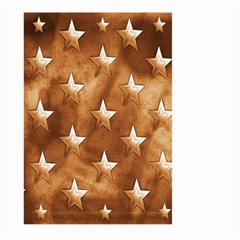 Stars Brown Background Shiny Large Garden Flag (two Sides)