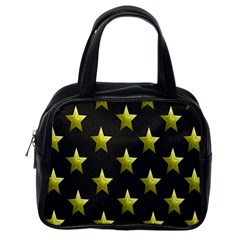 Stars Backgrounds Patterns Shapes Classic Handbags (one Side)