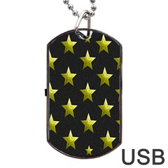 Stars Backgrounds Patterns Shapes Dog Tag Usb Flash (two Sides)
