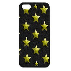 Stars Backgrounds Patterns Shapes Apple Iphone 5 Seamless Case (black)
