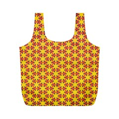 Texture Background Pattern Full Print Recycle Bags (m)