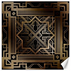 Gold Metallic And Black Art Deco Canvas 20  X 20