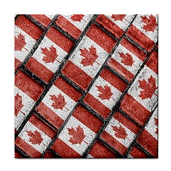 Canadian Flag Motif Pattern Tile Coasters
