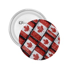 Canadian Flag Motif Pattern 2 25  Buttons