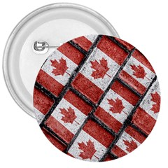 Canadian Flag Motif Pattern 3  Buttons