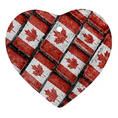 Canadian Flag Motif Pattern Ornament (heart)