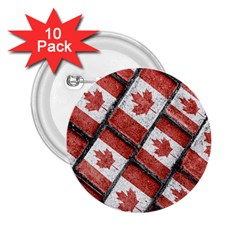 Canadian Flag Motif Pattern 2 25  Buttons (10 Pack)