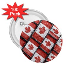 Canadian Flag Motif Pattern 2 25  Buttons (100 Pack)