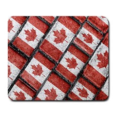 Canadian Flag Motif Pattern Large Mousepads