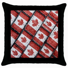 Canadian Flag Motif Pattern Throw Pillow Case (black)