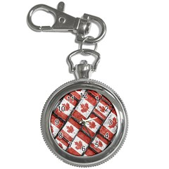 Canadian Flag Motif Pattern Key Chain Watches