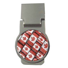 Canadian Flag Motif Pattern Money Clips (round)