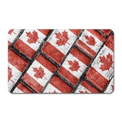 Canadian Flag Motif Pattern Magnet (rectangular)
