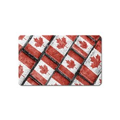 Canadian Flag Motif Pattern Magnet (name Card)