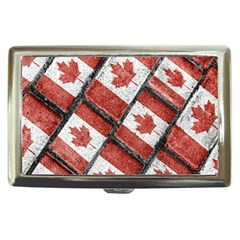 Canadian Flag Motif Pattern Cigarette Money Cases