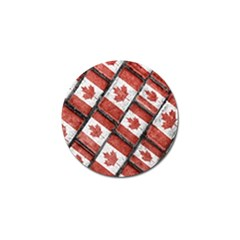 Canadian Flag Motif Pattern Golf Ball Marker (4 Pack)