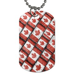 Canadian Flag Motif Pattern Dog Tag (two Sides)