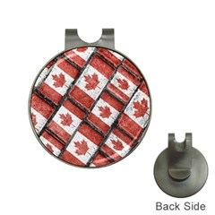 Canadian Flag Motif Pattern Hat Clips With Golf Markers