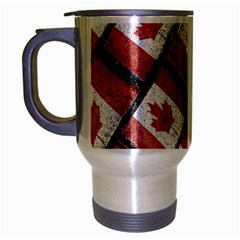 Canadian Flag Motif Pattern Travel Mug (silver Gray)