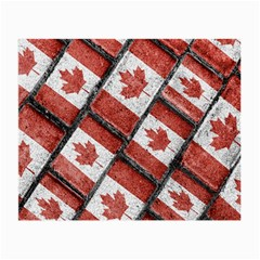 Canadian Flag Motif Pattern Small Glasses Cloth