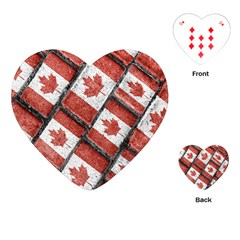 Canadian Flag Motif Pattern Playing Cards (heart)