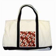 Canadian Flag Motif Pattern Two Tone Tote Bag