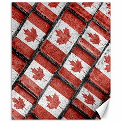 Canadian Flag Motif Pattern Canvas 8  X 10