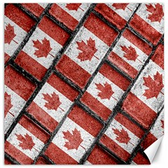 Canadian Flag Motif Pattern Canvas 12  X 12