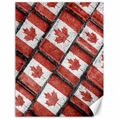 Canadian Flag Motif Pattern Canvas 12  X 16