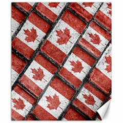 Canadian Flag Motif Pattern Canvas 20  X 24