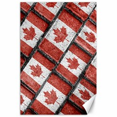 Canadian Flag Motif Pattern Canvas 20  X 30