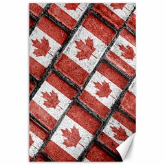 Canadian Flag Motif Pattern Canvas 24  X 36