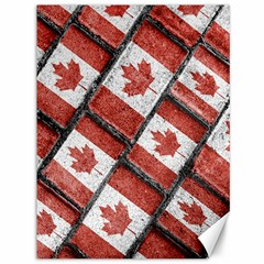 Canadian Flag Motif Pattern Canvas 36  X 48