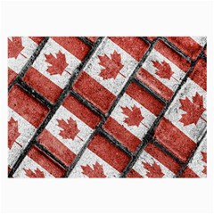 Canadian Flag Motif Pattern Large Glasses Cloth