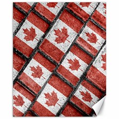 Canadian Flag Motif Pattern Canvas 11  X 14