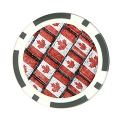 Canadian Flag Motif Pattern Poker Chip Card Guard
