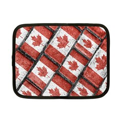 Canadian Flag Motif Pattern Netbook Case (small)