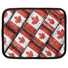 Canadian Flag Motif Pattern Netbook Case (large)