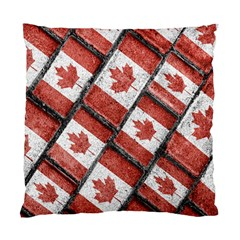 Canadian Flag Motif Pattern Standard Cushion Case (one Side)