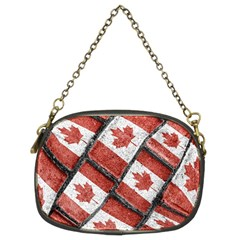 Canadian Flag Motif Pattern Chain Purses (two Sides)