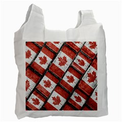 Canadian Flag Motif Pattern Recycle Bag (one Side)