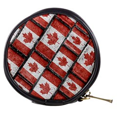 Canadian Flag Motif Pattern Mini Makeup Bags