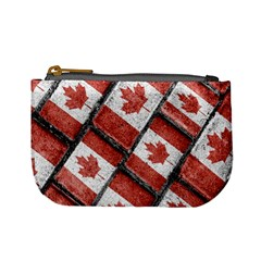 Canadian Flag Motif Pattern Mini Coin Purses