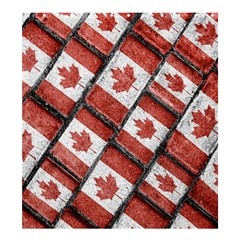 Canadian Flag Motif Pattern Shower Curtain 66  X 72  (large)