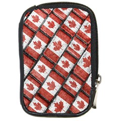 Canadian Flag Motif Pattern Compact Camera Cases