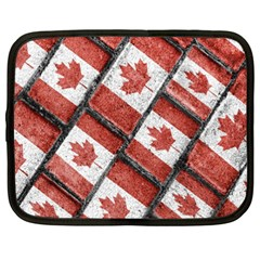 Canadian Flag Motif Pattern Netbook Case (xxl)