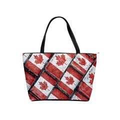 Canadian Flag Motif Pattern Shoulder Handbags