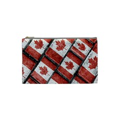 Canadian Flag Motif Pattern Cosmetic Bag (small)