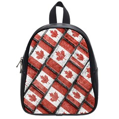 Canadian Flag Motif Pattern School Bag (small)