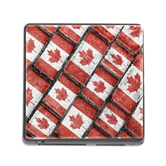 Canadian Flag Motif Pattern Memory Card Reader (square)